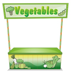 A vegetable stall vector image