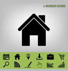 Home silhouette   black icon vector
