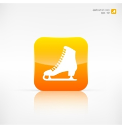 Skate web icon vector