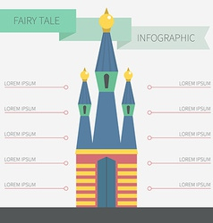 Castle infographic vector
