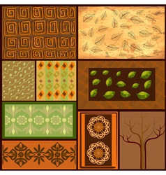 african backgrounds vector image