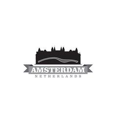 Amsterdam Netherlands city symbol vector image