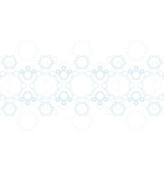 Abstract blue molecule structure medical vector