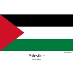National flag of palestine with correct vector