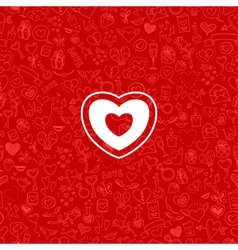 Love and hearts doodles background vector
