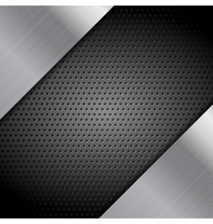 Metal perforated texture technical background vector