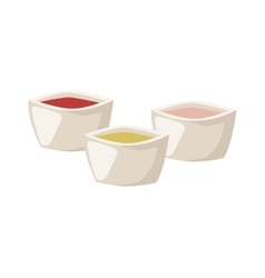 Various spices bowl vector image