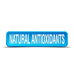Natural antioxidants blue 3d realistic square vector