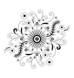 Abstract floral pattern contour vector