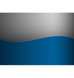 Background blue stripe wave one grey vector