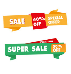 banner sale sign image vector image