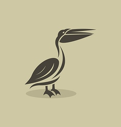 Billed stork vector