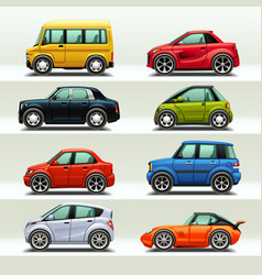 car icon set-3 vector image vector image