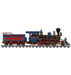 Classic american steam locomotive vector image vector image