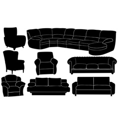 couches vector image