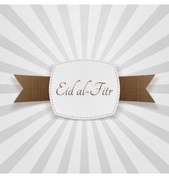 Eid al-fitr realistic greeting badge vector