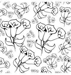 flower graphic floral hand drawn vector image vector image