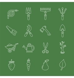 Garden tools icon set vector image