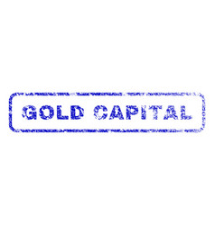Gold capital rubber stamp vector