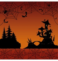 Holiday Halloween landscape vector image vector image