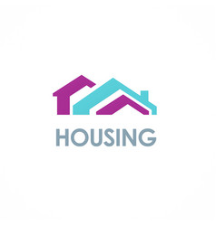 House roof colored logo vector