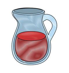 Juice pitcher icon vector