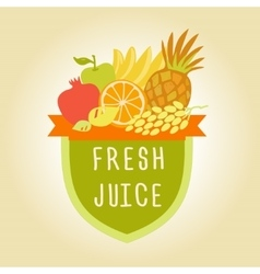 Logo symbol for fresh juice Hand drawn fruit vector image