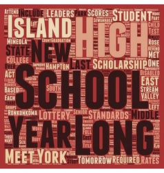 Long Island Schools Improve in the School Year vector image