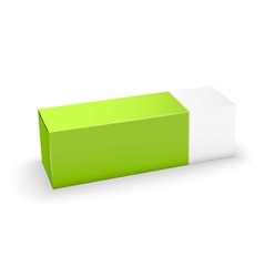Package white and green box design vector image vector image