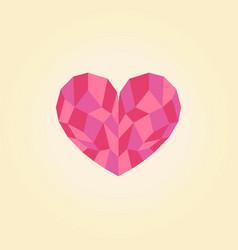 polygonal heart low poly love symbol vector image