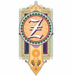 royal letter Z vector image vector image