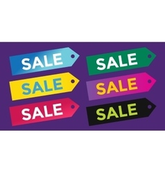 Sale off tags label banner icons vector