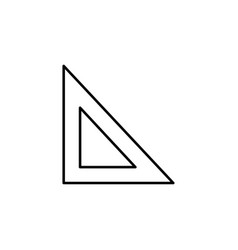 set square icon vector image