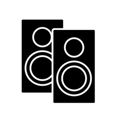 speakers icon black sign on vector image