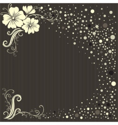 stylish floral vintage background vector image vector image