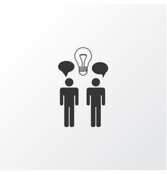 Team brainstorming icon symbol premium quality vector