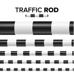 Traffic police stick baton set isolated on white vector