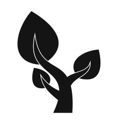 Tree saving plants simple icon vector image vector image