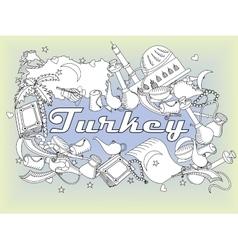 Turkey line art design vector