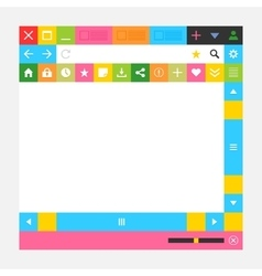 Web browser window with additional buttons vector image