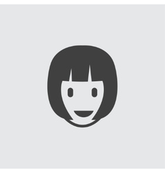 Woman hairstyle icon vector