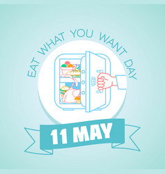 11 may eat what you want day vector