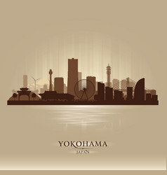 Yokohama japan city skyline silhouette vector