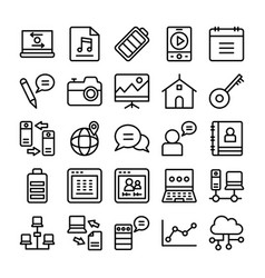 Web design line icons 10 vector