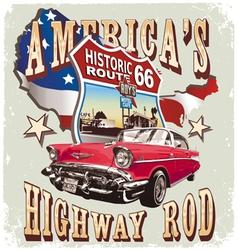 Americas Classic car vector image