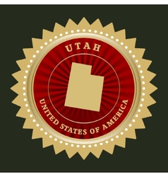 Star label utah vector