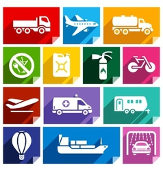 Transport flat icon bright color-02 vector