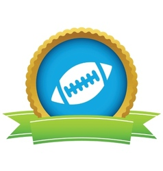 Rugby ball icon vector