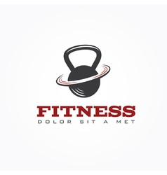 Kettlebell design template vector