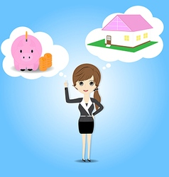 Women who plan to save money vector